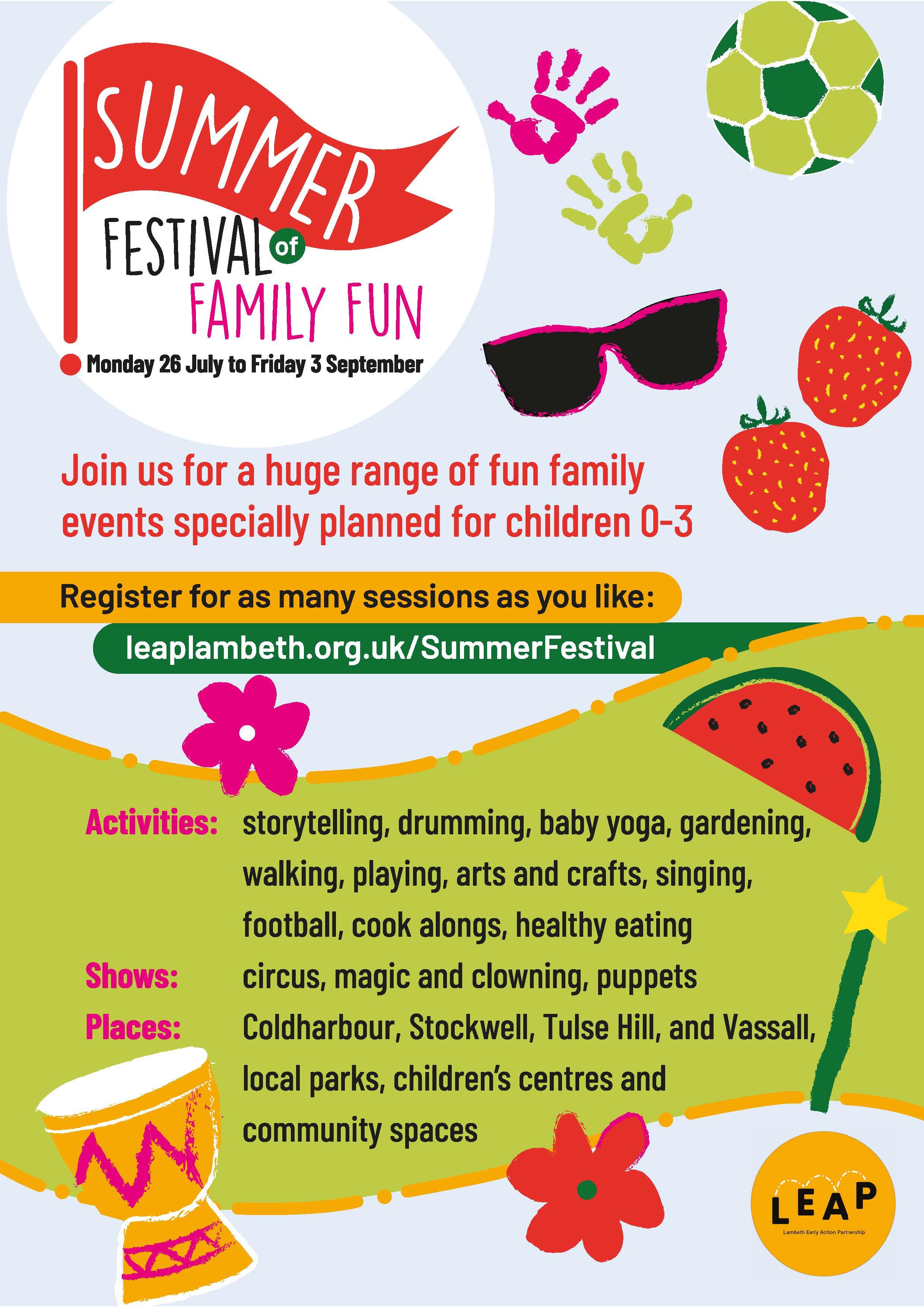 Leapsummer festival poster